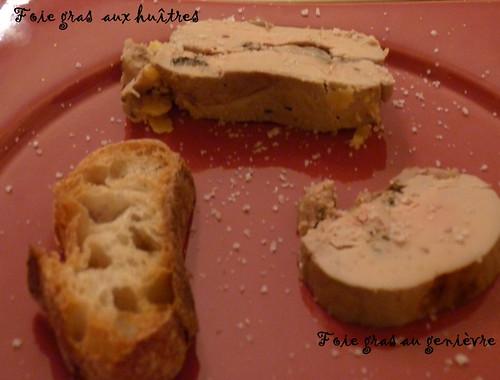 foie gras aux huîtres