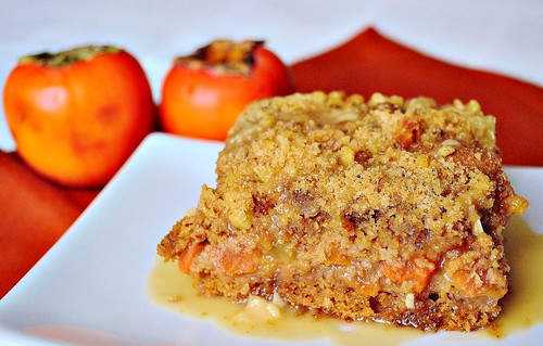 Persimmon Ginger Crumb Coffee Cake