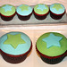 Blue and Green Star Cupcakes