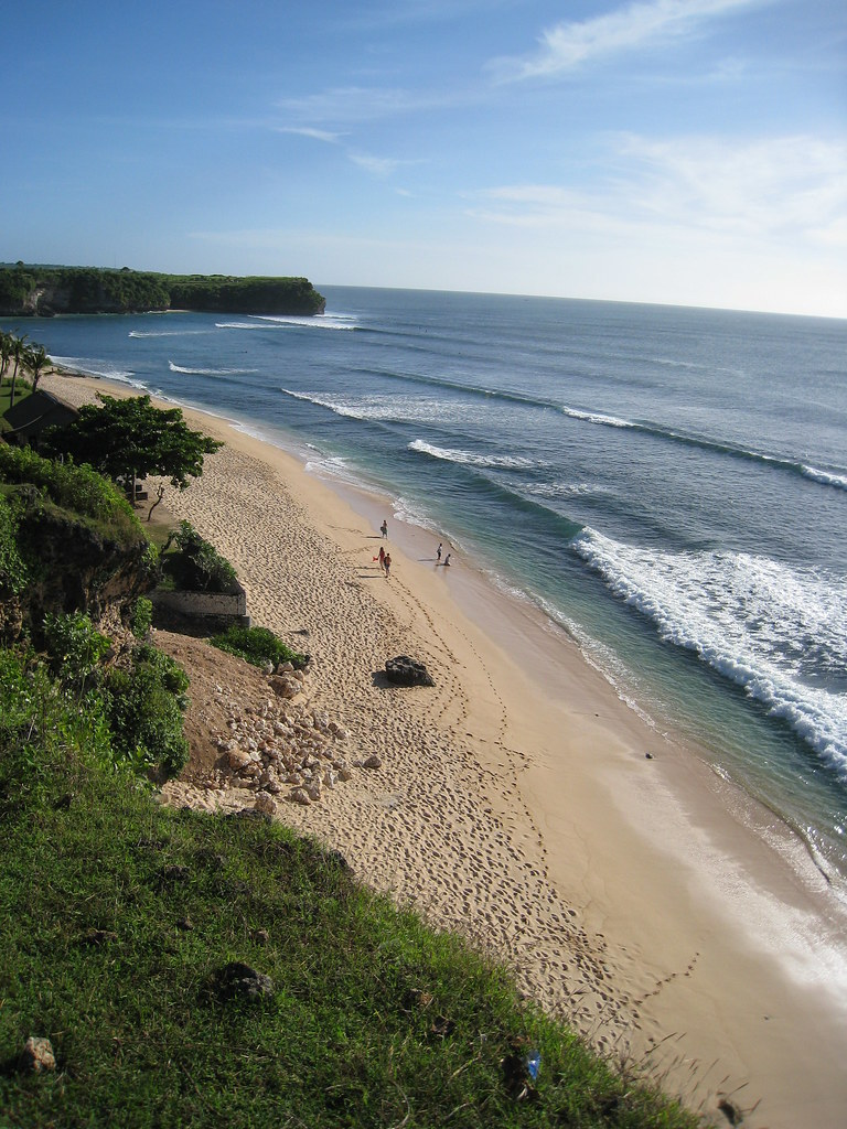 Surf at Balangan beach, Bukit, Bali, Indonesia