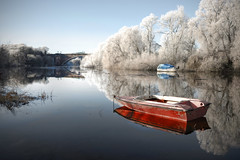 Chester Walls in the fog (Mark Carline) Tags: camera colour digital canon river eos boat cheshire chester dee dslr ff hdr flickr10 5dmarkii 5d2 5dmkii 5dmk2 5dmark2 gupr welshotportfolio