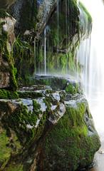 Mineral Springs (suchafabrication) Tags: green fall water beauty rock speed waterfall moss nikon drip monica springs shutter mineral twop d3000 schwerberg
