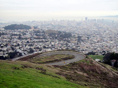 Twin Peaks View (danieljsf) Tags: sanfrancisco road street city skyline downtown cityscape loop hill twinpeaks curve flickrchallengegroup friendlychallenges thechallengefactory