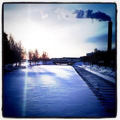 Morgonen blir längre vintertid. Vackert så.