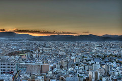 Kyoto City (shibuya246) Tags: city sunset mountain japan nikon kyoto view kyotoshi