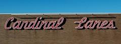 cardinal lanes (vistavision) Tags: sign typography kentucky bowling lettering script paducah