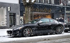 Winter in Dsseldorf (mauto) Tags: auto winter snow car dsseldorf maserati gts knigsallee spotten worldcars