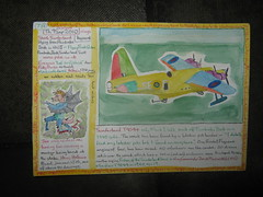 "key word ""wings"" on the Short Sunderland and a winged devil (reindeer rob) Tags: sunderland pembrokedock hansholbeintheyounger sketchpostcards shortbrothersbelfast jan1516"