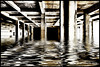 Concrete and Water (Christian Eberle) Tags: water concrete flood pillars refections grundge draganizer