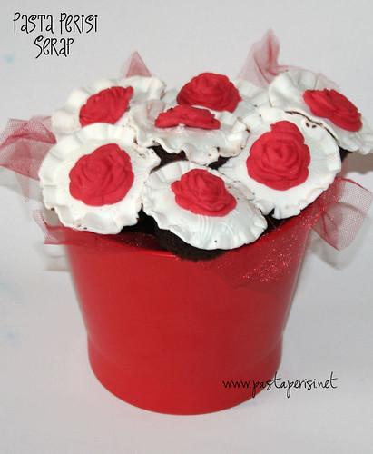 cupcake çiçek buketi