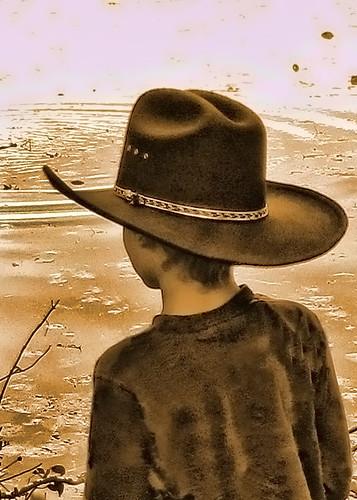 Cowboy painting 5x7