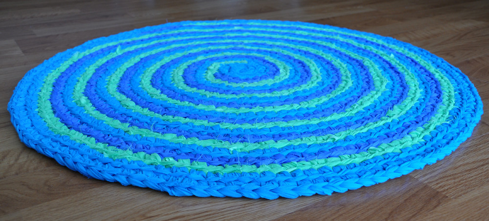Peacock Feather Spiral Rug