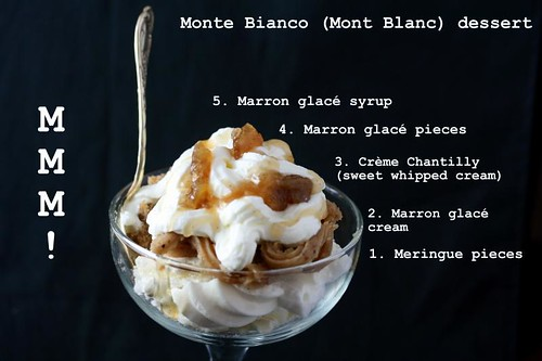Mont blanc with marron glace'