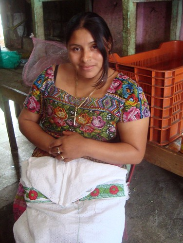 Guatemalan Textiles Vegetable Woman
