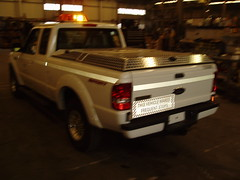 (DiamondBack Truck Covers) Tags: elevated 270 polished tonneaucover ford organizationalaffiliation americanwater fr94 closed hardtruckbedcover diamondback pickuptruck ranger s truckbedcover whitetruck driversidetaillightview aluminum diamondplate discontinued