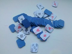 Poker Party (BuildMyPaperHeart) Tags: blue diamonds paper hearts cards joker clubs spades papercraft deckofcards scratchbuiltpapercraft