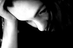 Steph 1 (Nick Mulcock) Tags: new york nyc portrait blackandwhite bw white black 35mm canon d 14 crop sunnyside 60d pensive60
