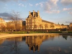Louvre Museum and Reflection (Alexanyan) Tags: city sky paris france reflection history museum french europe louvre capital muse