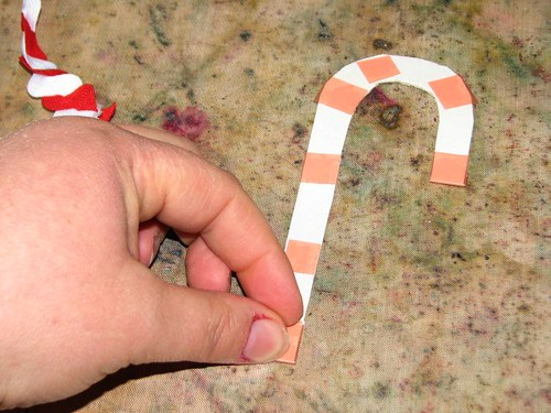 25 Days of Hand Crafted Gifts & Ornaments - Ric Rac Candy Cane 009
