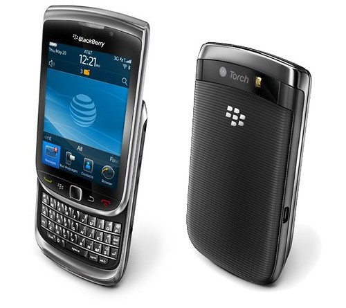 Blackberry Torch 9800: Blackberry con pantalla tactil