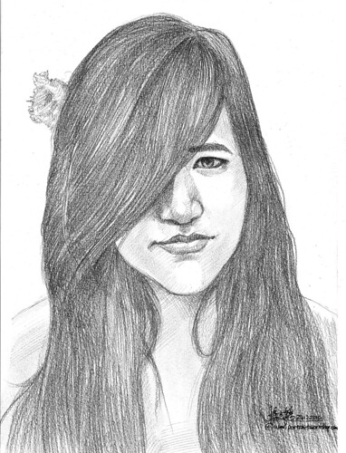lady portrait in pencil 24122010