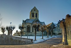 Auvers-sur-Oise, France - The Church at Auvers (Vincent van Gogh) (GlobeTrotter 2000) Tags: winter white snow paris france church painting europe vincent doctor sur van gogh auvers gachet oise gettyimagesfranceq1