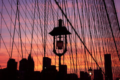 Fix You. (~~[(QTR)]~Mubarak~) Tags: city bridge sunset red summer sky orange cold lamp silhouette yellow skyline brooklyn buildings fix fire lights play purple post you posts