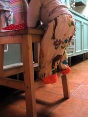 sisters (various brennemans) Tags: pants sewing homemade eliza circe december2010 2010december
