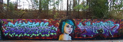 DAZE / LEPER (daze tn) Tags: city art graffiti birmingham tits tn alabama production spraypaint graff daze leper suicidegirl nsa rtm dazetn 280graffiti