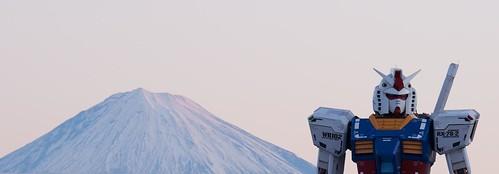 110101元旦のガンダム&富士山  032