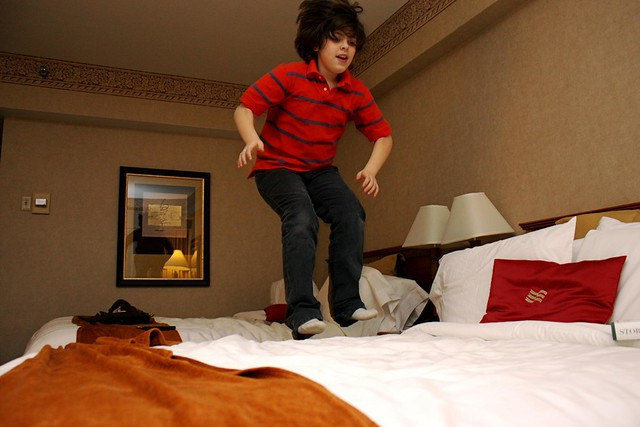 hotels are for bed jumping