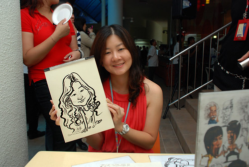 Caricature live sketching for BAT White Christmas Party 2010 - 24