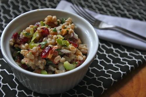 farro salad with cranberries