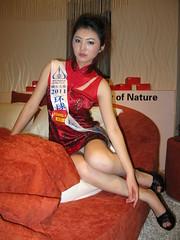cheongsam model at JSWB Guangzhou (Pazhou) (zikay's photography(no PS)) Tags: girl model cheongsam 旗袍 模特 走光 商场 露底