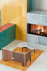 come curl up by my cardboard fire, baby (splityarn) Tags: moma cardboard playhouse