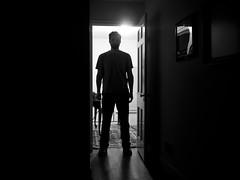 1/52 (AlexKT) Tags: door winter light portrait blackandwhite selfportrait home me silhouette self interesting bedroom raw room lightroom project52 shootraw lightroom3 rawprocess onephotoperweek olympuspenepl1 project5211