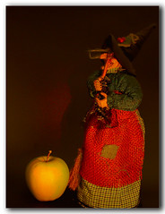 Fairytale (MarCaLo) Tags: test stilllife apple hat fairytale cuento manzana witch experiment story sombrero tale broom hdr bodegon bruja escoba