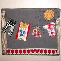 Dutch Clothesline Fabric Painting