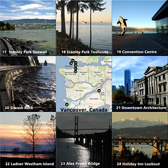 Gord's Favourite Vancouver Viewpoints (17 through 24) (Gord McKenna) Tags: park bridge sea holiday canada english alex look wall architecture vancouver creek out island photography bay photo inn scenery downtown bc centre famous tripod north columbia off lookout seawall shore stanley views convention stunning british burrard fraser gord cascade teahouse ladner lookoff false siwash mckenna westham viewpoints gordmckenna
