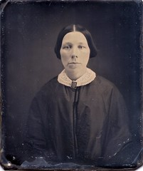Woman Wearing a Black-Enamel Hair Mourning Brooch, 1/6th-Plate Daguerreotype, Circa 1849 (lisby1) Tags: uk greatbritain portrait usa men history loss fashion century vintage hair children photography death early memorial pin mourning antique gothic brooch 19thcentury 1800s victorian jewelry funeral mementomori tintype ambrotype cdv cartedevisite token widow daguerreotype regency edwardian grief geneology geneaology 19th inmemoriam customs earlyphotography broach grieving jewellry nineteenthcentury cabinetcard vinatge thermoplastic tolken widowsweeds guttapercha hairwork widowhood vulcanite funeralcustoms initedstates frenchglass whitbyjet socialcustoms funeralcustomers pressedhorn