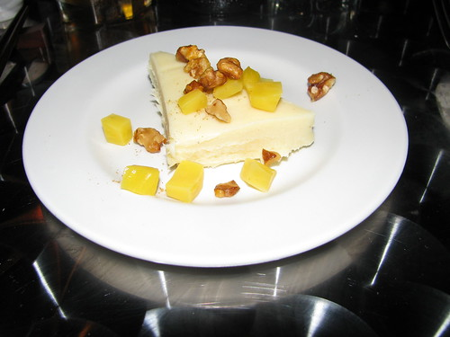 White Chocolate Ganache with Five Spice, Walnuts, Jackfruit