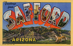 Greetings from Safford, Arizona - Large Letter Postcard (Shook Photos) Tags: arizona linen postcard postcards greetings linenpostcard palomino palominos bigletter safford largeletter largeletterpostcard saffordarizona linenpostcards grahammountains largeletterpostcards bigletterpostcard bigletterpostcards