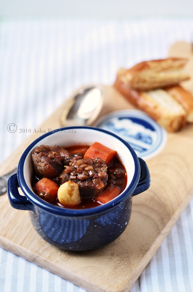 Harissa and Rosemary Beef & Lentil Stew