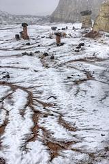 Hoodoo factory (Chief Bwana) Tags: snow weather utah sandstone 100views 400views 300views 200views geology hoodoos toadstools rimrocks rimrock paria rimrockhoodoos psa104 chiefbwana