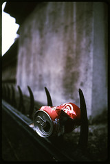 Pierced (Jaymes Sinclair) Tags: cambridge colour film wall 35mm fence kodak slide spike kodachrome kr railing 2470l kodachrome64 ef2470f28l kr64 canoscan9950f