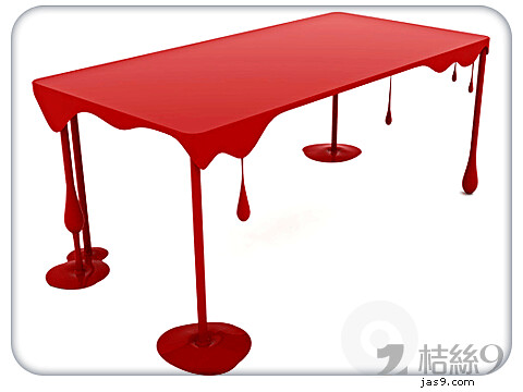 Red Resin Table