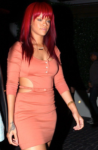 sexy ass rihanna looking right leaving the club
