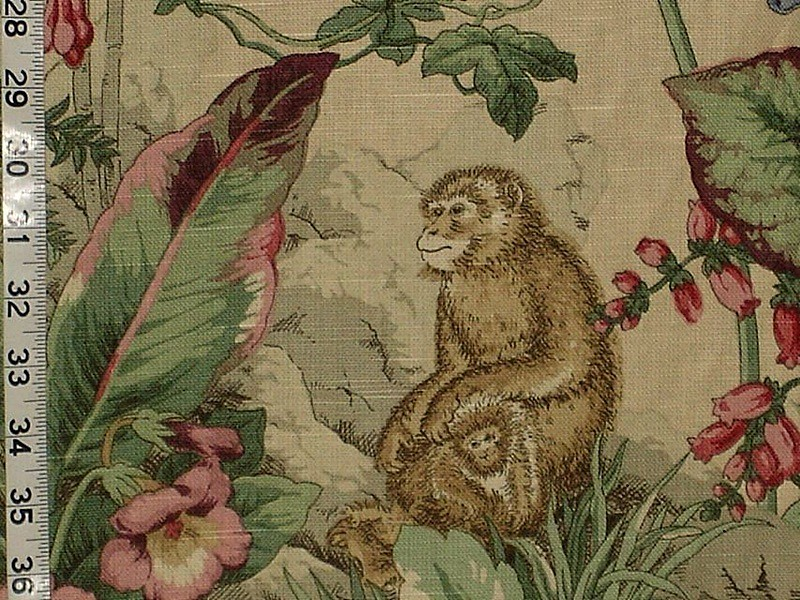 Monkey fabric novelty home decorating