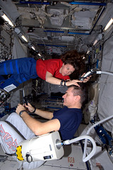 A haircut in space! (astro_paolo) Tags: haircut iss esa cadycoleman internationalspacestation europeanspaceagency paolonespoli lifeinspace expedition26 magisstra