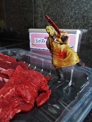 Let's cook, Leatherface (Doc Moriarty) Tags: toy leatherface humor meat